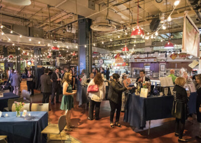 guests mingle at event