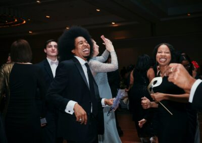 guests smile and dance