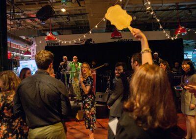 guests hit the dance floor