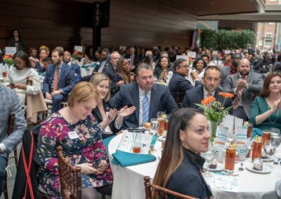 guests smile at luncheon
