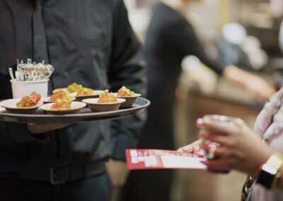 caterer offers hour d'ourves to guest