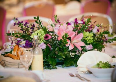 beautiful bouquet on table