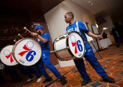 drumline comes in to entertain at event