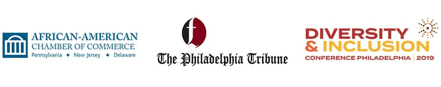 logos for african american chamber of commerce, philadelphia tribune, diversity and inclusion conference