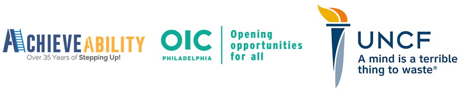 logos for achievability, oic philadelphia, uncf
